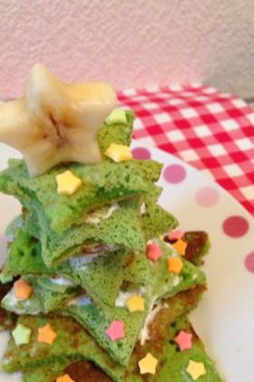 1歳のクリスマス☆ホットケーキツリー