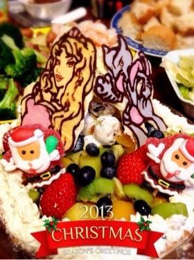 クリスマス*フルーツタルト♪キャラチョコ