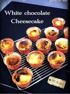 トースターでホワイトチョコチーズケーキ