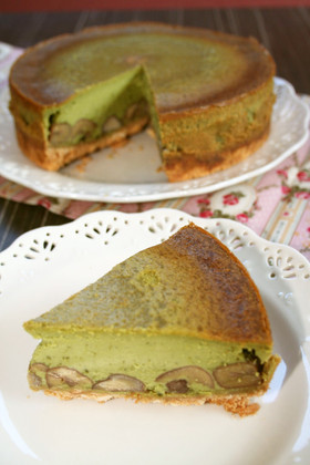 ♡栗抹茶のチーズケーキ♡