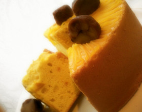 かぼちゃのふんわりシフォンケーキ