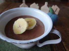 ヨーグルトでチョコバナナレアチーズケーキ