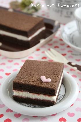 ふわふわシフォン♡チョコケーキ