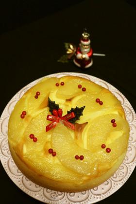 ★ラ・フランスパウンドケーキ。