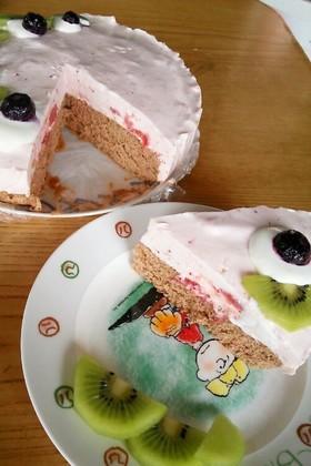 いちごムースでピュアキュンケーキ♪