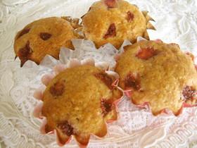 しっとり☆チョコと苺のカップケーキ