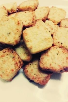 濃厚♡簡単さくほろバジルチーズクッキー