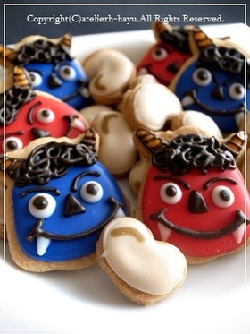 お豆クッキー(節分・枝豆・黒豆に♪)