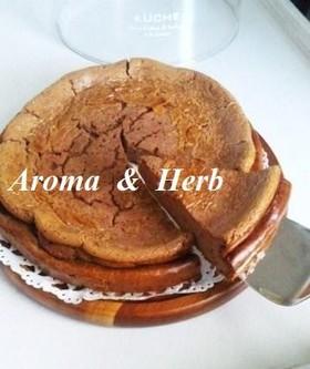 ココア味のベイクドチーズケーキ