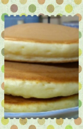 簡単にふわふわホットケーキ♪②