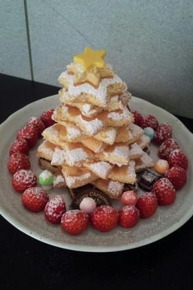 クリスマス パンケーキツリーケーキ