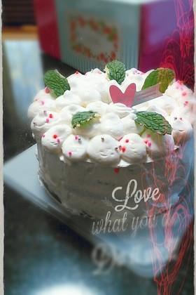 バレンタイン♥板チョコでシフォンケーキ
