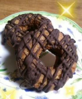 簡単♪チョコドーナツ♪材料4つだけ♥