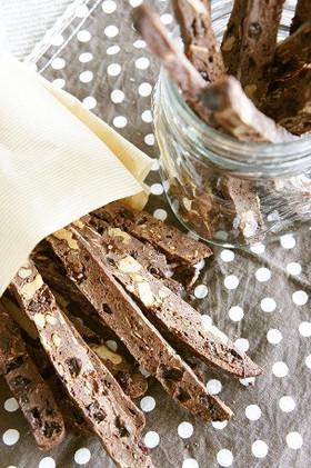 自家製酵母でチョコビスコッティ
