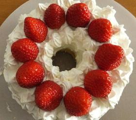 シフォンのショートケーキ