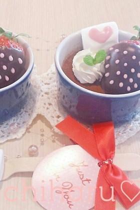 バレンタイン♥簡単生チョコプリン
