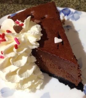 チョコレートのスフレチーズケーキ