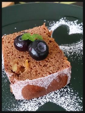 大豆粉でヘルシーココアパウンドケーキ♪