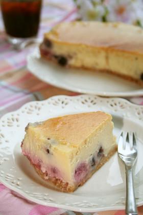♡簡単ベリーチョコNYチーズケーキ♡