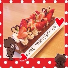 デコ ロールケーキ バレンタイン