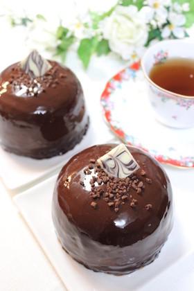 三層仕立ての贅沢チョコレートムースケーキ