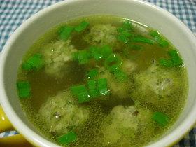 ☆余った餃子のたねで簡単中華スープ☆
