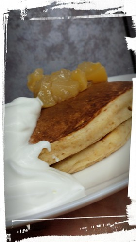 豆乳を使った全粒粉パンケーキ