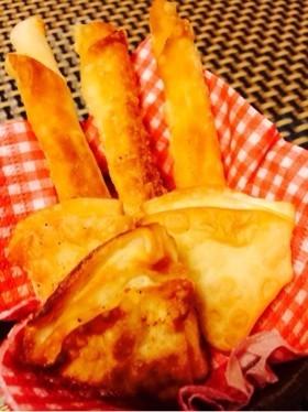 【20分】餃子の皮&チーズのおつまみパイ