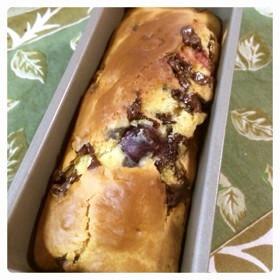 チョコとブルーベリーのパウンドケーキ