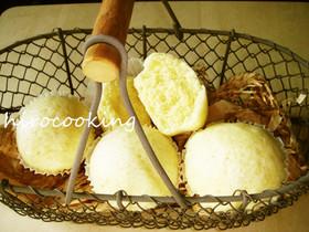 HMで作るスポンジ蒸しパン