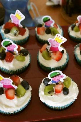 子供用★ヨーグルトでカップケーキ&ケーキ