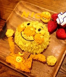 おいもとかぼちゃのアンパンマンケーキ
