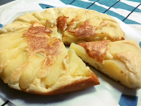 リンゴたっぷりホットケーキ