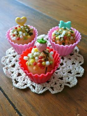 キャラ弁おかず!簡単ポテトでカップケーキ