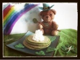 緑色のパンケーキ
