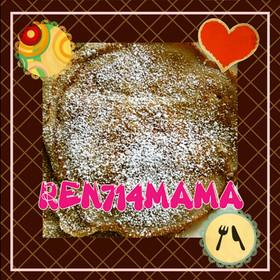 簡単☆いちご&バナナのもちもちパンケーキ
