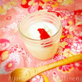 離乳食に♪材料3つの赤ちゃん豆乳プリン