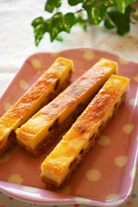 クランベリーのスティックチーズケーキ