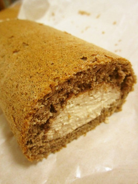チョコ味☆豆腐クリームのロールケーキ