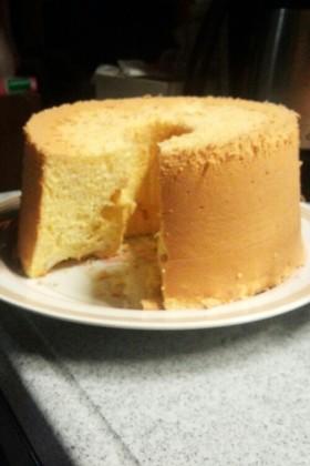 ゴマ風味豆乳シフォンケーキ