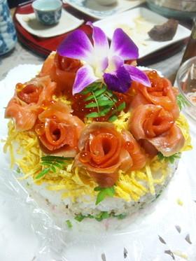 誕生日✿お祝いケーキ寿司✿ホムパにも