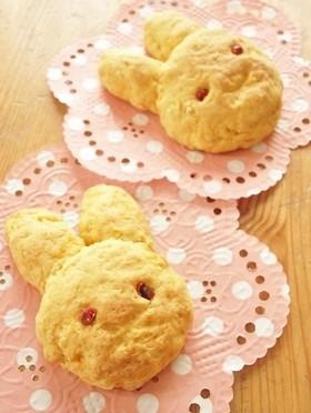 ピンクペッパーでウサギちゃんクッキー