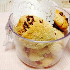 セミドライイチゴとホワイトチョコクッキー