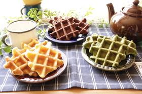 ワッフルケーキ 抹茶&アップル