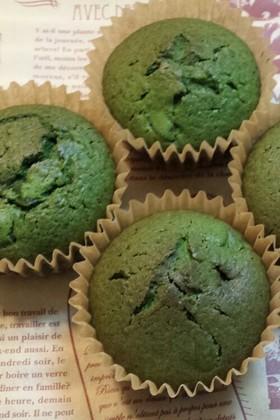栗抹茶のカップケーキ