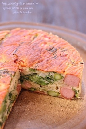 カフェ風☆春野菜の厚焼きパンケーキ
