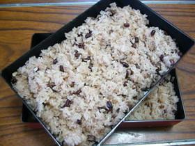 餅とあずき缶deもち米いらずのお赤飯