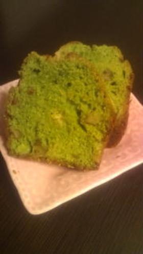 抹茶香る☆チョコとくるみのパウンドケーキ