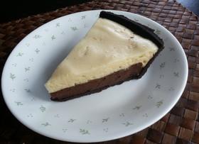 チョコ&メレンゲ★2層のカスタードパイ