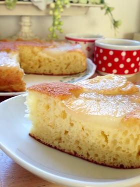 フライパンでりんごのパンケーキ